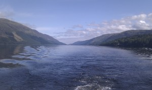 Powering through Loch Ness - peacefully of course