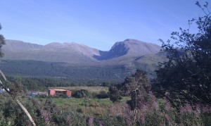 Ben Nevis REALLY doesn't look that difficult to climb from here...