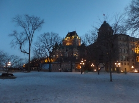 Chateau Frontenac at twilight